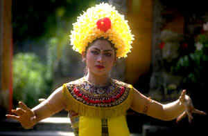 Balinese Traditional Dancer, Exotic Vacations with World Travellers' Club Inc.